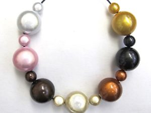 Bubble Necklace in Burberry Mix