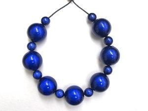 Bubble Necklace in Dark Blue