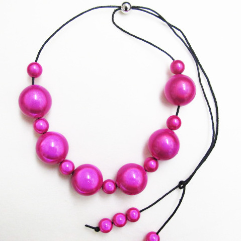 The Bubble Necklace Fuchsia