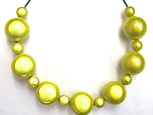 Bubble Necklace in Lemon Yellow
