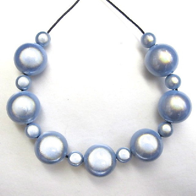 Bubble Necklace in Light Blue