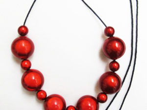 The Bubble Necklace Red