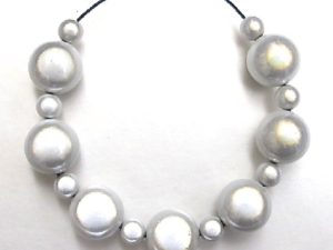 Bubble Necklace in White