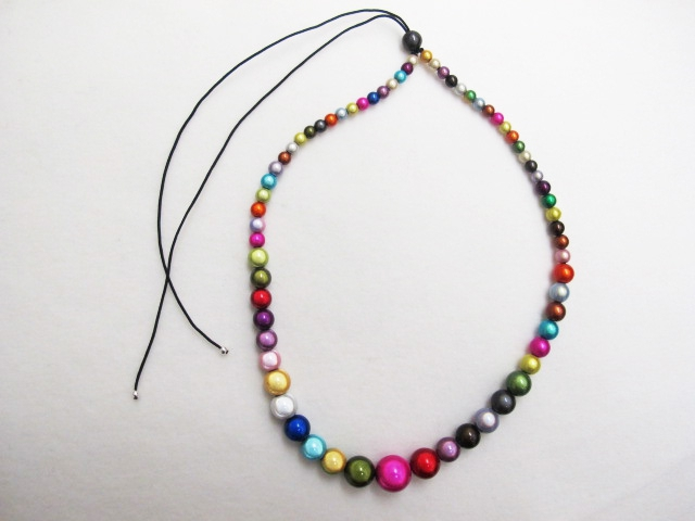 Large to small Necklace Multicolor