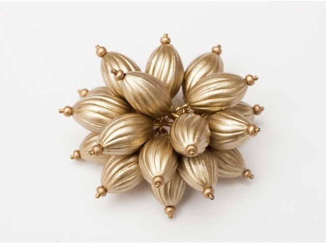 Flower Power Cocktail Ring in Matte Gold Ribbed