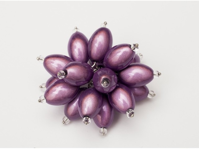 Flower Power Cocktail Ring in Light Purple