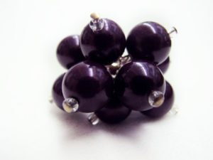 Flower Ring in Dark Purple
