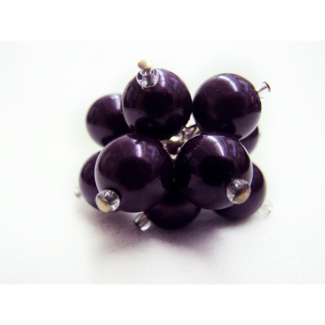 Flower Ring in Dark Purple