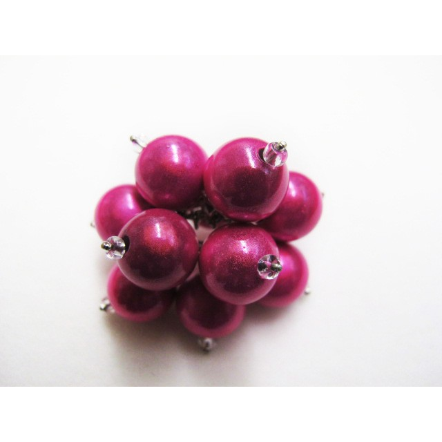 Flower Ring in Fuchsia