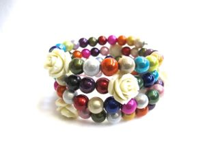 Mary Rose Bracelet in Multicolor/Cream
