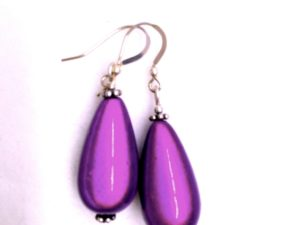 Dark Purple Teardrop Earrings (ETDP)
