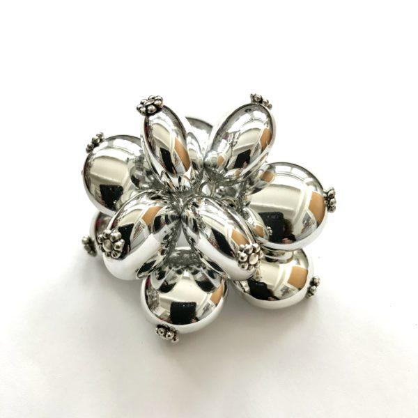 Metallic Mila Ring in Silver